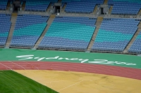 Photo de Seats and track at Sydney Olympic Stadium - Australia