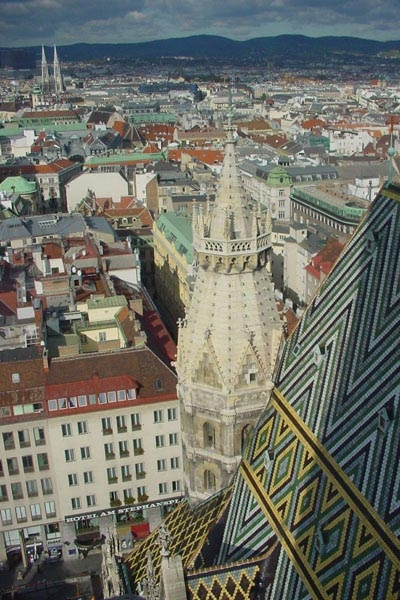 View over Vienna from the Stephansdom