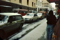 Picture of Snowy street in La Paz - Bolivia