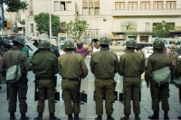Picture of Policemen on the job in La Paz - Bolivia