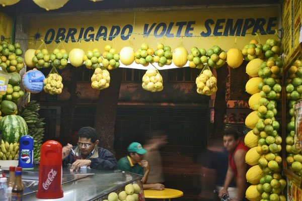 Stuur foto van A fruit juice bar in Rio de Janeiro van Brazili als een gratis kaart