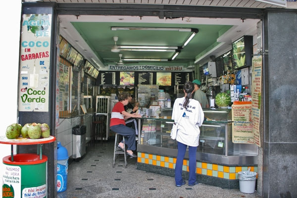 Send picture of Fruit juice bar in Rio de Janeiro from Brazil as a free postcard