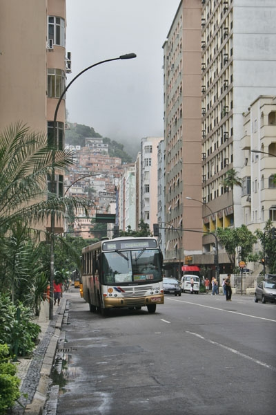 Send picture of Street in Rio de Janeiro from Brazil as a free postcard