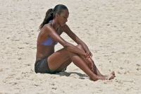 Picture of Young woman on the beach in Rio de Janeiro - Brazil
