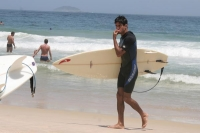 Photo de Surfboarder at Ipanema beach - Brazil