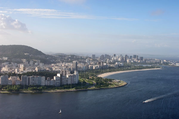 Send picture of View over Rio de Janeiro from Brazil as a free postcard