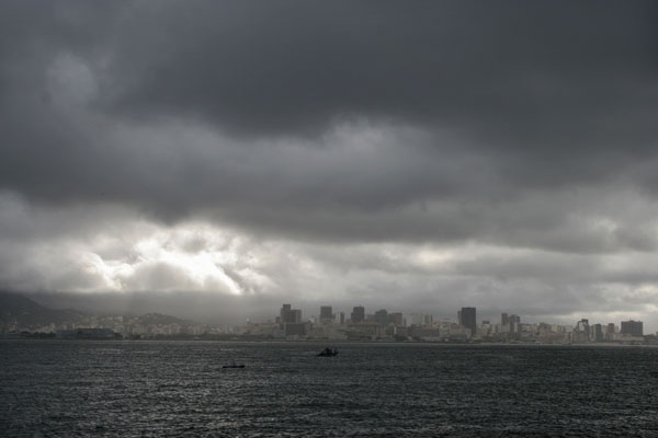 Send picture of Heavy clouds over Rio de Janeiro from Brazil as a free postcard