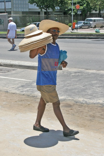 Send picture of Hat seller in Rio de Janeiro from Brazil as a free postcard