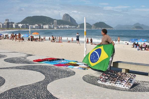 Stuur foto van Vendor in Rio de Janeiro van Brazilië als een gratis kaart