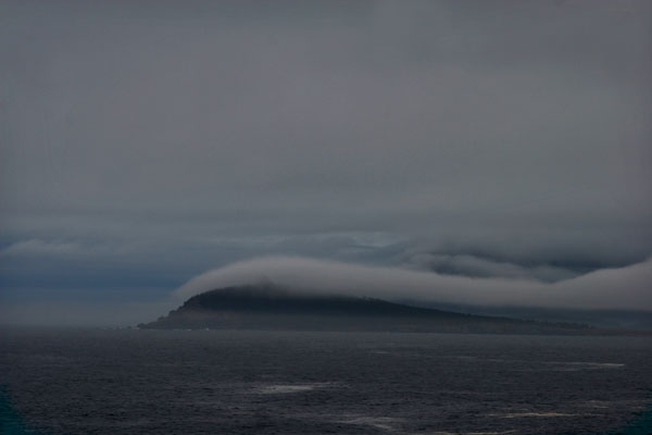 Cloudy coastline of Nova Scotia