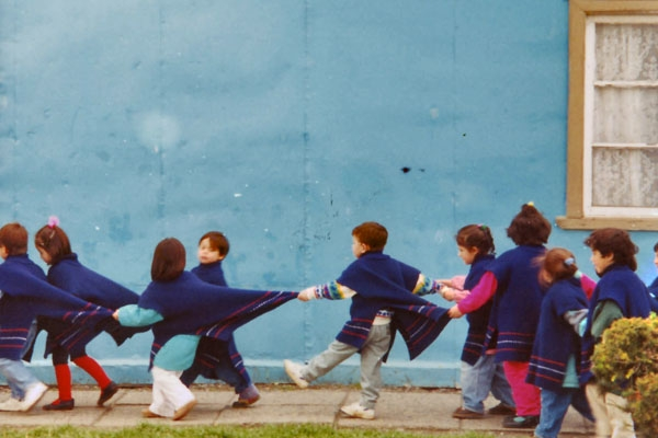 Send picture of School children in Puerto Natales from Chile as a free postcard