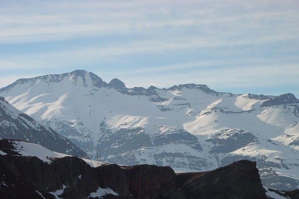 Send picture of View over the Andes mountains from Chile as a free postcard