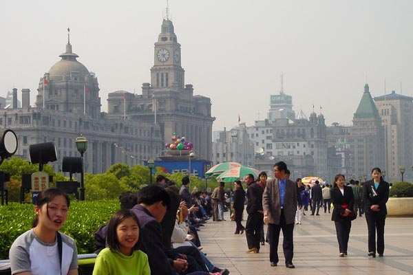 Send picture of Shanghai streetlife from China as a free postcard