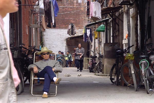 Send picture of Shanghai street scene from China as a free postcard