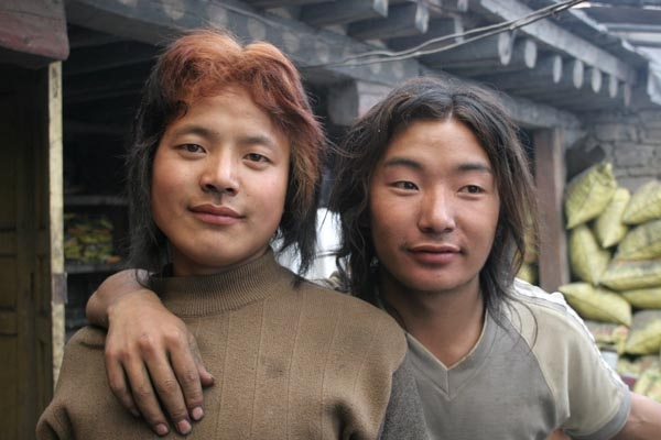 Send picture of Young men from Tagong from China as a free postcard