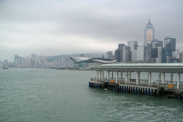 Send picture of View over modern buildings in Hong Kong from China as a free postcard