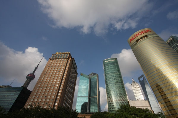 Send picture of Buildings in Shanghai from China as a free postcard