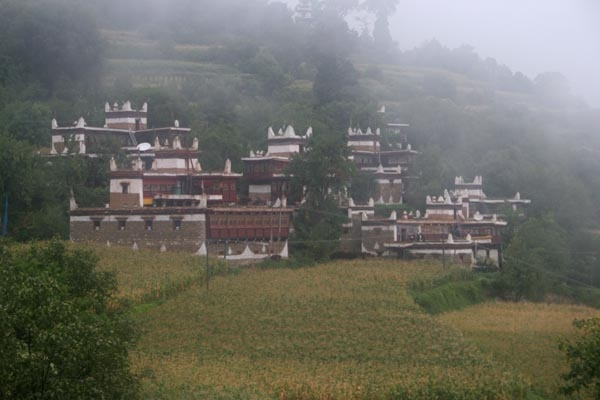 Send picture of Tibetan houses in Jiaju village from China as a free postcard