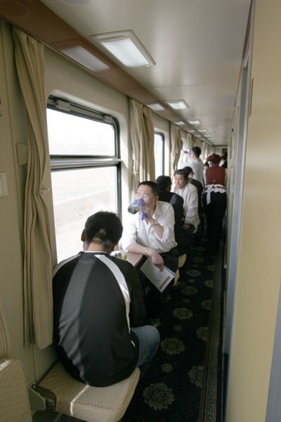 Send picture of Inside a Chinese train from China as a free postcard