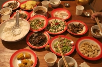 Foto de Typical Tibetan food - China