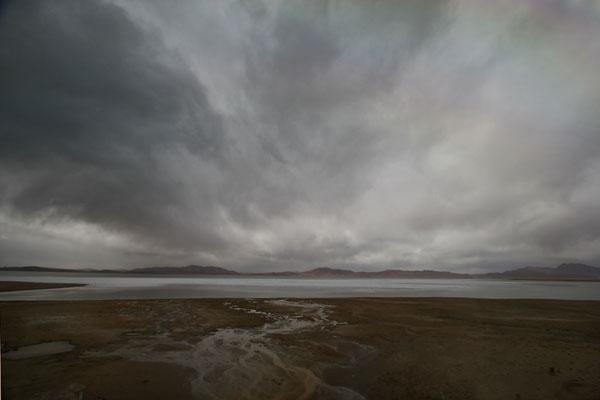 Stuur foto van Lake in Qinghai province in early spring van China als een gratis kaart