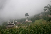 Picture of Jiaju village covered in fog - China