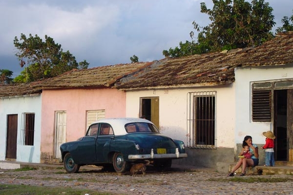 Send picture of Houses in  a Cuban village from Cuba as a free postcard