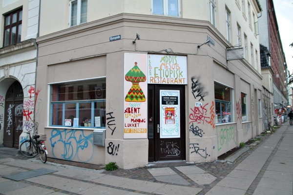 Envoyer photo de Ethiopian restaurant in Nørrebro area in Copenhagen de le Danemark comme carte postale électronique