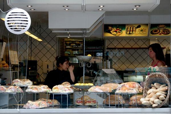 Send picture of Take away shop in Copenhagen from Denmark as a free postcard