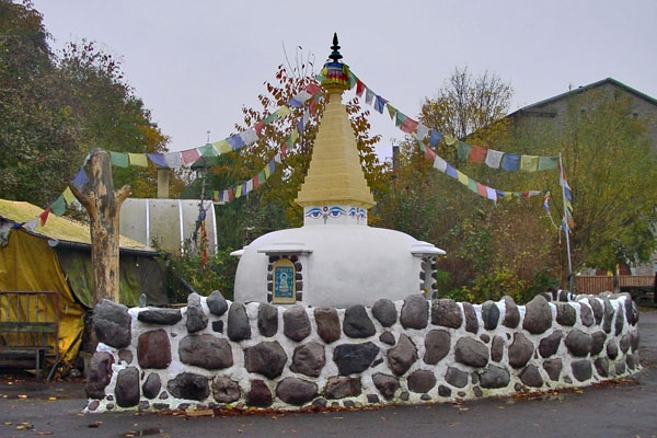 Send picture of Stupa in Christiania from Denmark as a free postcard