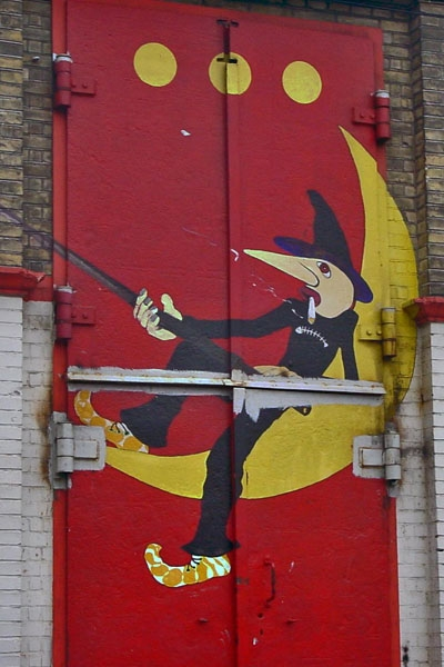 Send picture of Entrance of Månefiskeren (The Moon Fisher) in Christiania from Denmark as a free postcard