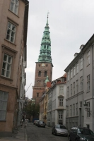 Foto van Typical downtown Copenhagen street - Denmark