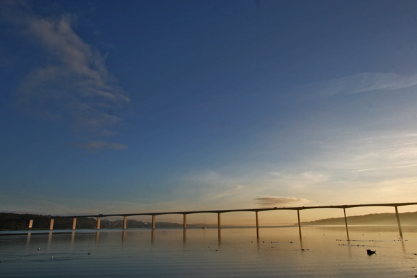 Send picture of Bridge over Vejle Fjord from Denmark as a free postcard