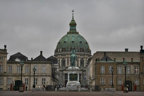 Send picture of Frederikskirken in Copenhagen from Denmark as a free postcard