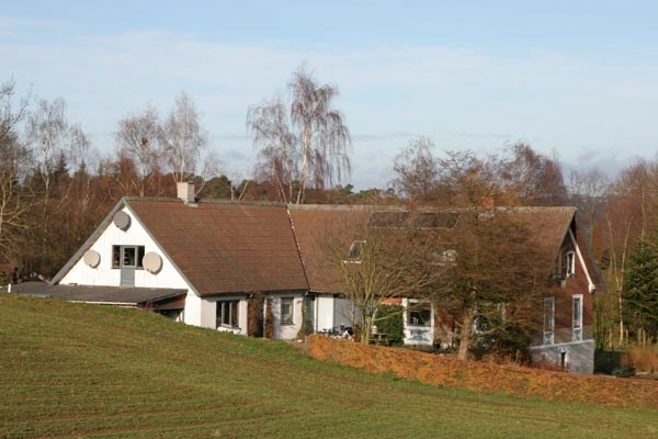 Send picture of House in the countryside of western Denmark from Denmark as a free postcard