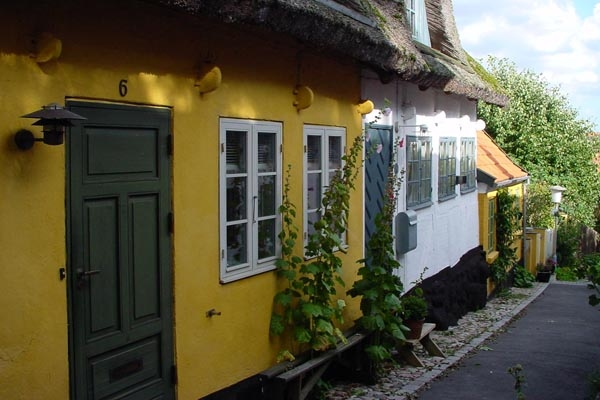 Send picture of Houses in Roskilde from Denmark as a free postcard