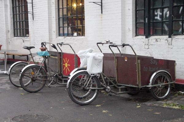 Send picture of Special bikes built in Christiania from Denmark as a free postcard