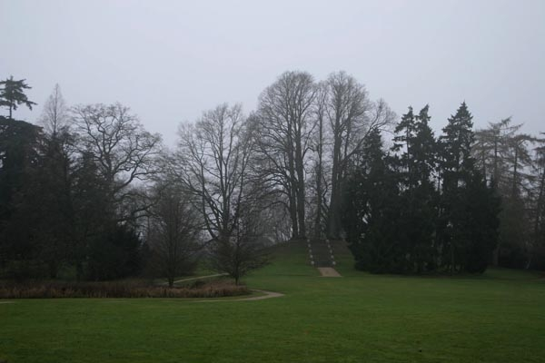 Send picture of Park in Copenhagen on a foggy day from Denmark as a free postcard