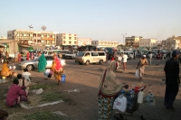 Foto van The busy Mahamoud Harbi, also known as Arthur Rimbaud square - Djibouti