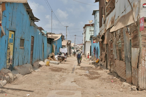 Send picture of Small street in Djibouti town from Djibouti as a free postcard