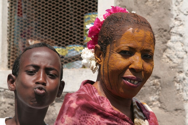 Boy and woman from Djibouti