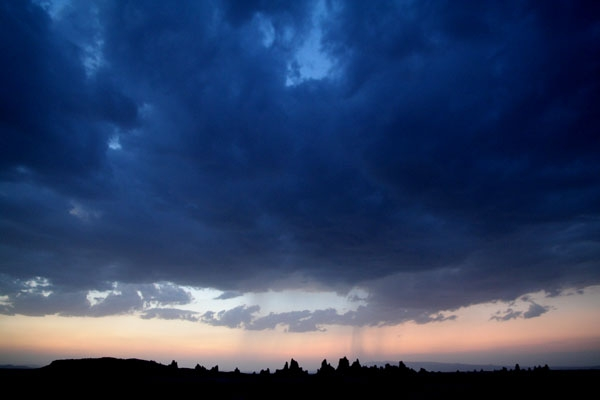 Send picture of Dramatic sky hanging over Lac Abbé from Djibouti as a free postcard