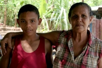 Picture of Grandmother and grandson in Limn - Dominican Republic