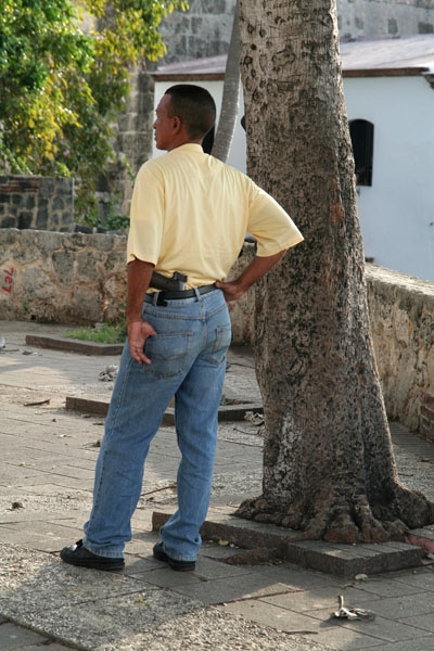 Send picture of Security guard in Santo Domingo from Dominican Republic as a free postcard