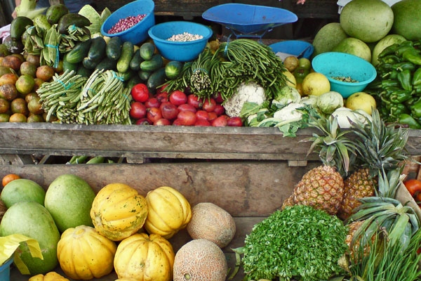 Send picture of Puerto Lopez, Manabi: Fruit vendor from Ecuador as a free postcard