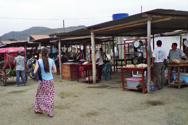 Send picture of Puerto Lopez, Manabi: Market from Ecuador as a free postcard