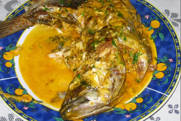 Send picture of Puerto Lopez, Manabi: Fresh seafish in coconut sauce from Ecuador as a free postcard