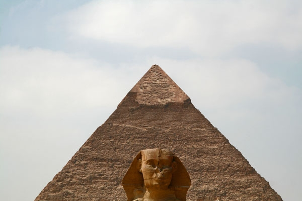 Send picture of Pyramid and Sfinx at Giza from Egypt as a free postcard