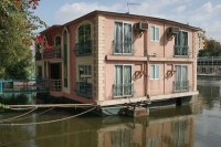Foto van Houseboat on the River Nile in Cairo - Egypt