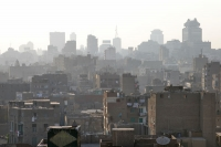 Foto van Hazy view over Cairo - Egypt